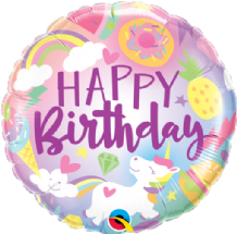 "Fantastical Fun Birthday Foil Balloon (18"") 1pc"